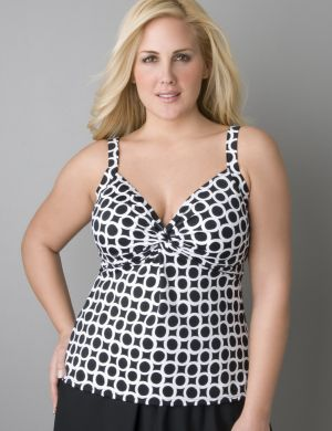 Ring pattern swim tank by Miraclesuit®