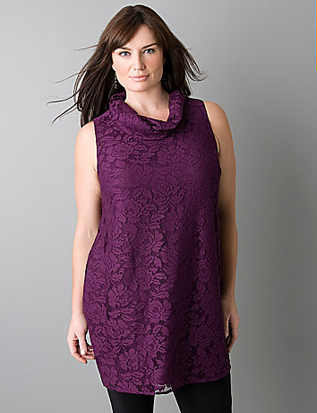Lace tunic by Lane Bryant