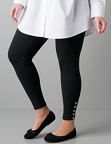 Button ankle leggings by Lane Bryant