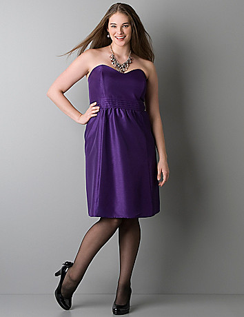 Strapless textured dress by Lane Bryant
