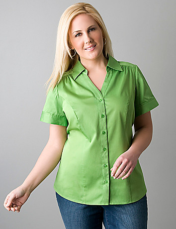Perfect shirt short sleeve top in plus sizes