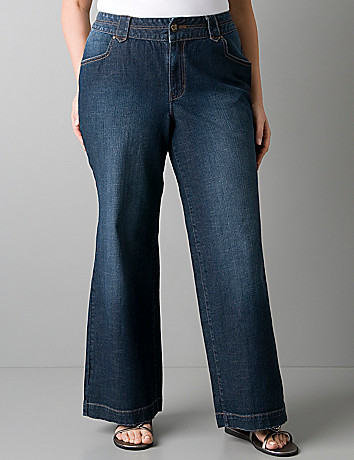 Plus size denim Trouser jean by Lane Bryant
