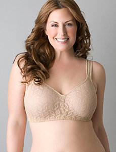 Lace no-wire bra