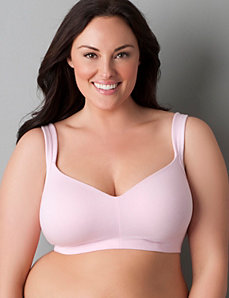 Cotton molded no-wire bra