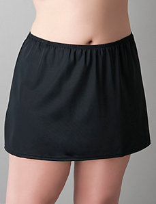 Slit swim skirt