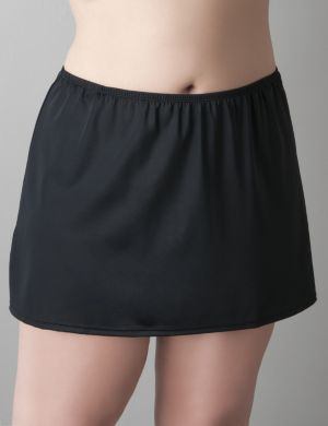Slit swim skirt