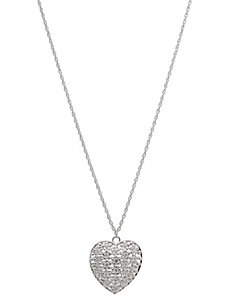 Crystal studded heart necklace by Lane Bryant