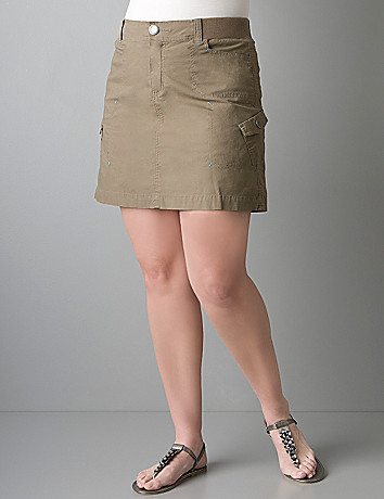 Plus size cargo scooter skort by Lane Bryant