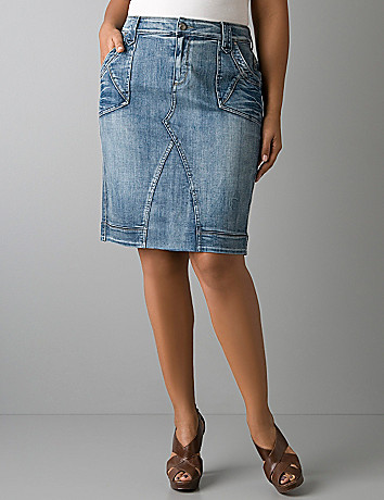 Denim skirt by Lane Bryant