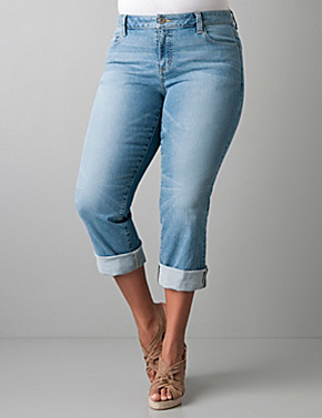denim capri pants - Pi Pants