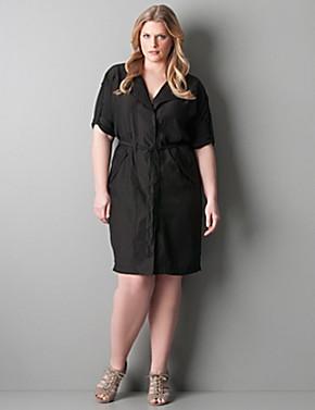 plus size shirt dress - kapres molene