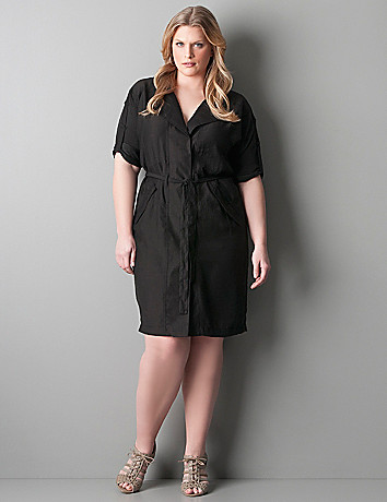 PLUS SIZE SHIRT DRESS - Kapres Molene