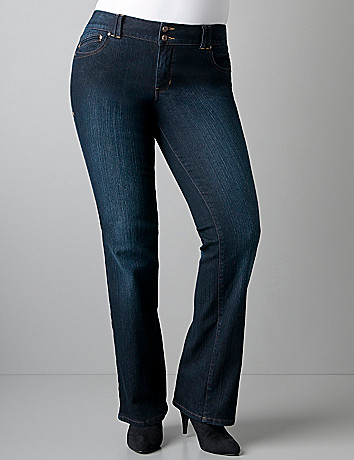 Bootcut jean with T3 Tighter Tummy Technology by Lane Bryant