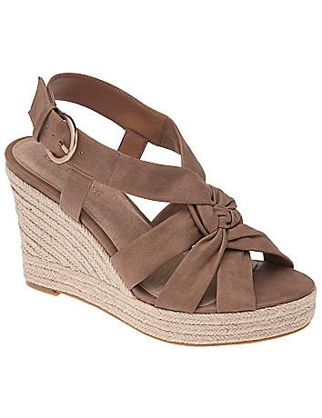 Wide Width Sling back wedge sandal non-slip