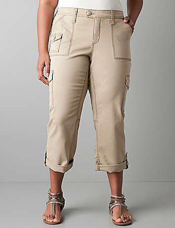 Plus size cargo capri by Seven7 in plus sizes | Lane Bryant
