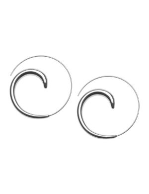 Silvertone swirl earrings by Lane Bryant