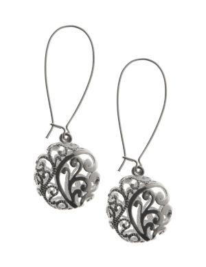 Silvertone filigree A-wire earrings by Lane Bryant