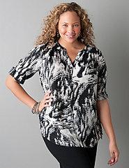 Print popover blouse