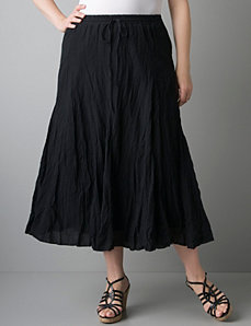 Gauze crinkle skirt by Lane Bryant