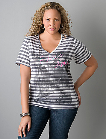 """From Paris with Love"" tee by Lane Bryant"