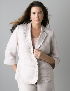 3/4 sleeve linen jacket