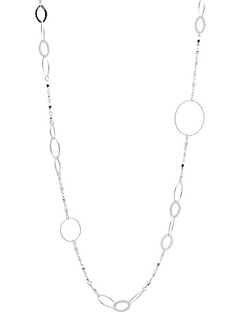 Silvertone link necklace by Lane Bryant