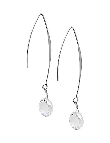 Faceted bead earrings