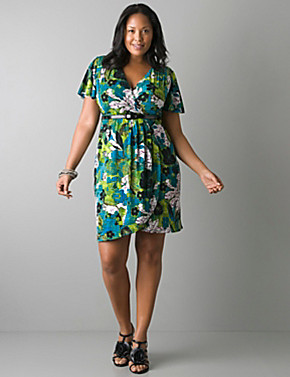Surplice Dress Plus Size Plus Size Print Surplice Dress