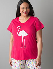 Glitter flamingo sleep shirt