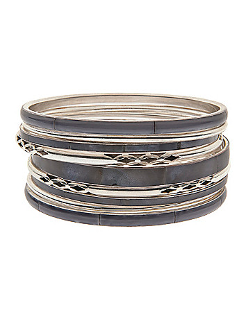 9 piece bone bangle set