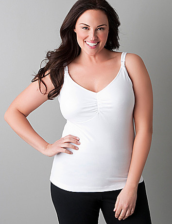 Plus size nursing bra tank top by Bravado