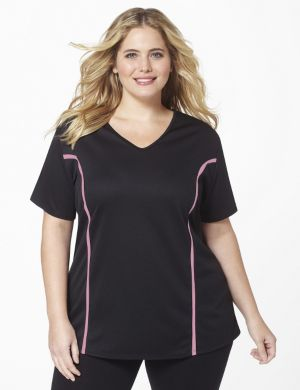 AirLight Black w/ Pink Stripe Sport Tee