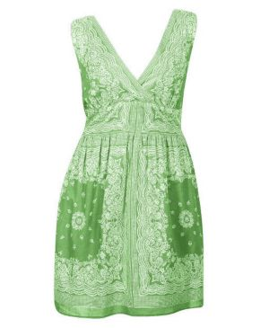 Moss Green Bandana Dress