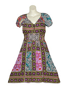 Multi Color Print Dress by Blue Plate