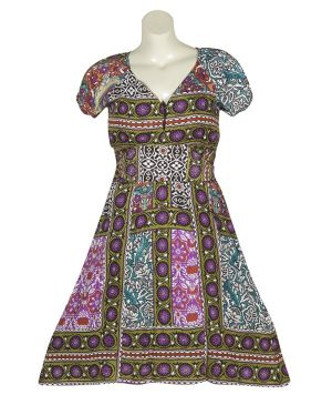 Multi Color Print Dress