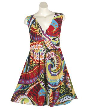 Space Race Print Dress