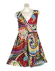 Space Race Print Dress by Blue Plate