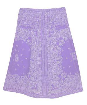 Lilac Smock Waist Skirt