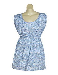 Light Blue Flowery Dress by Blue Plate
