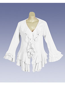 White Bell Top by Blue Plate