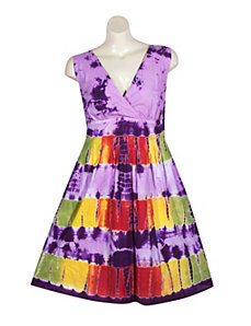 Purple Tie Dye Dress by Blue Plate