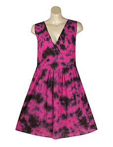 Fuchsia Tie Dye Dress by Blue Plate