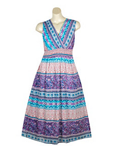 Purple Paisley Maxi Dress by Blue Plate