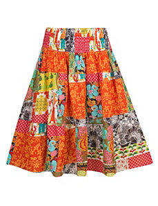 Mixed Pattern Skirt by Blue Plate
