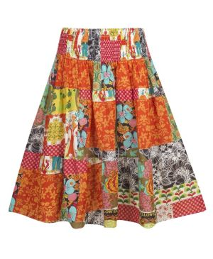 Mixed Pattern Skirt