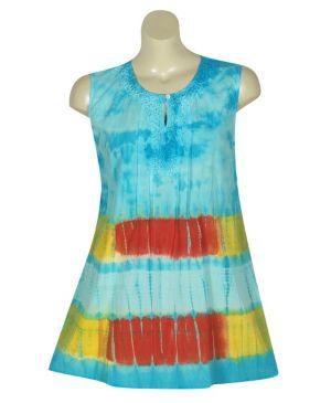 Blue Crochet Tie Dye Top