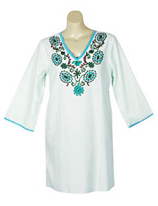 Green Hippie Chic Tunic by Blue Plate