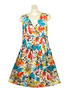 Blue Tropical Print Dress by Blue Plate