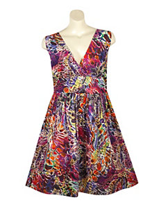 Water Color Print Dress by Blue Plate