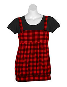Red Plaid Jumper by One Step Up Plus